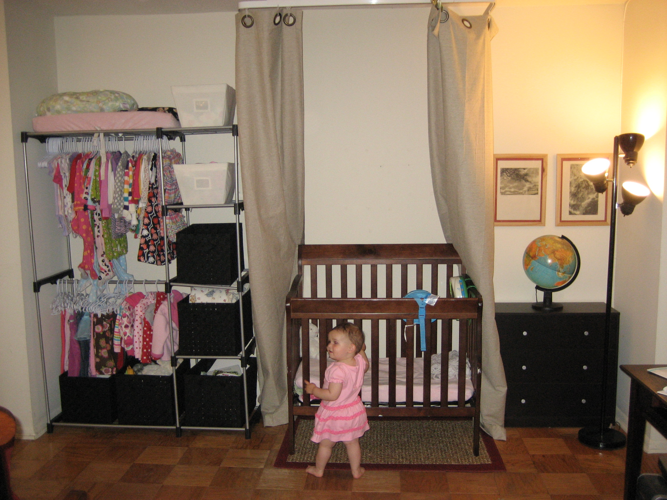 can you fit a baby into a one bedroom apartment functional