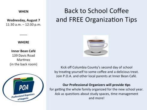 Back to school coffee flyer