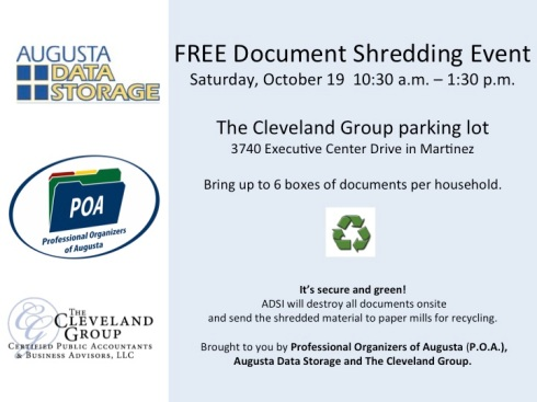 FREE Document Shredding Oct 19 - brought to you by POA